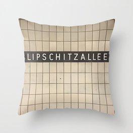 Berlin U-Bahn Memories - Lipschitzallee Throw Pillow