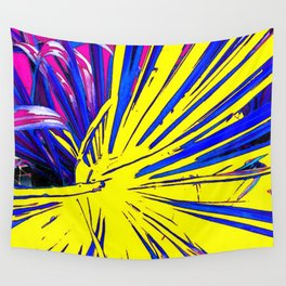 Yellow Fractured Abstract Wall Tapestry