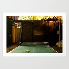 Low Light Backyard#1 Art Print