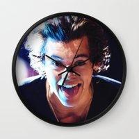 harry styles Wall Clocks featuring Harry Styles by harrystyless