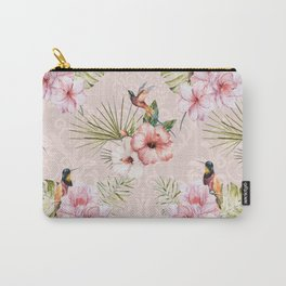 Pattern Tropical plants with birds Carry-All Pouch