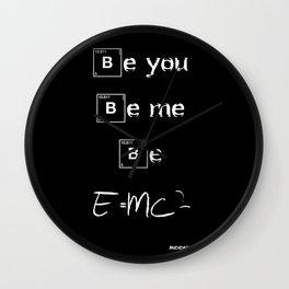 Be E=mc2 Wall Clock