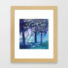 Purple Trees Framed Art Print