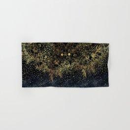 Stylish Gold floral mandala and confetti Hand & Bath Towel