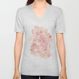 The Middle The Journey || Clearing of the Fog|Modern Watercolor Art | Abstract Watercolors Unisex V-Neck