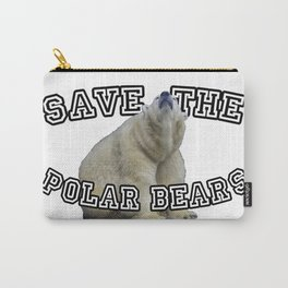 Save The Polar Bears Gifts Carry-All Pouch