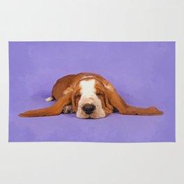 Basset Hound Puppy Rug