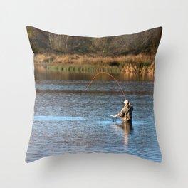 Gone Fishing 2 Throw Pillow