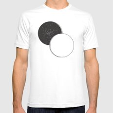 A Space MEDIUM White Mens Fitted Tee