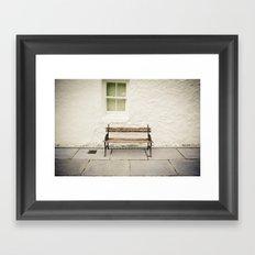 Vintage Bench Framed Art Print