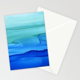 Alcohol Ink Seascape Stationery Cards