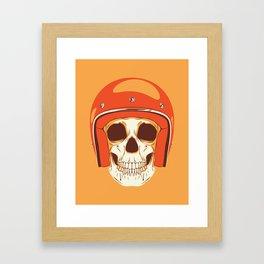 Helmet Skull Framed Art Print