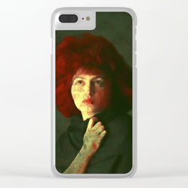 The red hat Clear iPhone Case