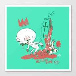 My little zombie - green version Canvas Print