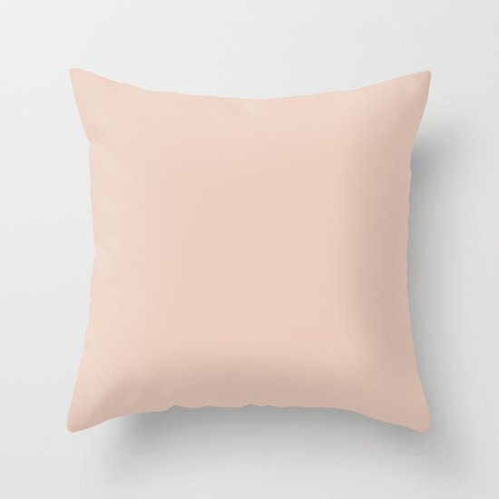Solid Vintage Rose Pink Throw Pillow by Simple Luxe Society6