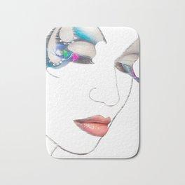 Lips art, Art Print, Digital Art, Makeup Painting, Poster Art, Printable Art Bath Mat