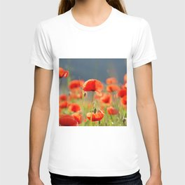 Red Poppies Flowers T-shirt