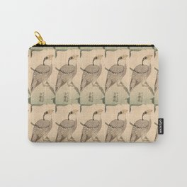 Hokusai,Hawfinch and mirabilis 2 - manga, japan,hokusai,japanese,北斎,ミュージシャン Carry-All Pouch