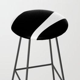 Irregular Stripes Black White Waves Art Design Bar Stool