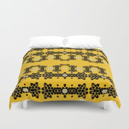 Ornate circulate is festive in  flower decorative Duvet Cover