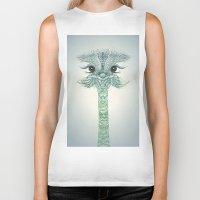 ostrich Biker Tanks featuring Ostrich  by Monika Strigel