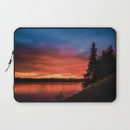Evening on the river Laptop Sleeve