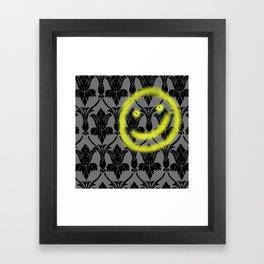 Sherlock smiling wall Framed Art Print