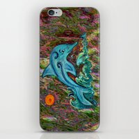 dolphin iPhone & iPod Skins featuring Dolphin by gretzky