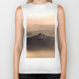 The West is Burning - Mt Shasta - nature photography Biker Tank