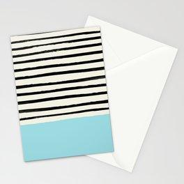 Sky Blue x Stripes Stationery Cards