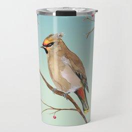 Bohemian waxwing Travel Mug