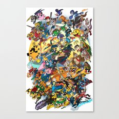 Super Smash Bros! Canvas Print