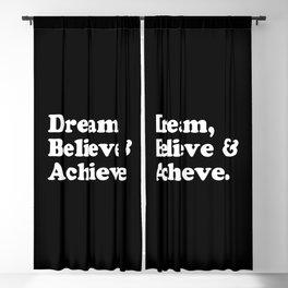 Dream, Believe & Achieve Quote Blackout Curtain