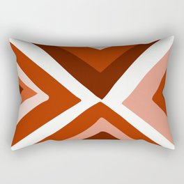 Abstract triangle geometric artwork in Autumn Colors Rectangular Pillow