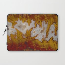 Cady Mountain Yellow Flame Agate Laptop Sleeve