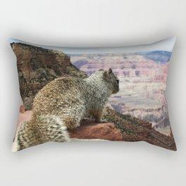 Squirrel Overlooking Grand Canyon Rectangular Pillow
