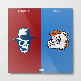 Boulogne Boys VS South Winenrs (Paris VS Marseille) Metal Print