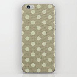 Camel Polka Dots iPhone Skin