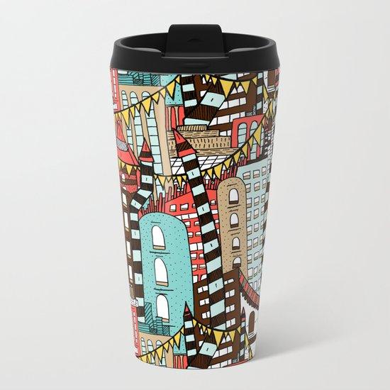 The City of Towers Metal Travel Mug