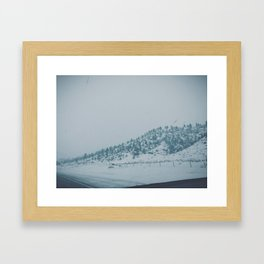 Snowy Montana Framed Art Print