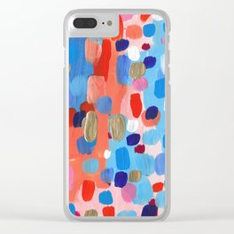 Abstract Candy Colorplosion Summer Clear iPhone Case