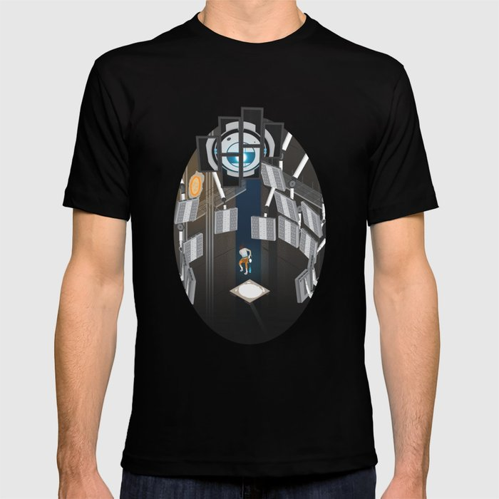 b445347fd Portal 2 Isometric Poster T-shirt by free-dlc | Society6