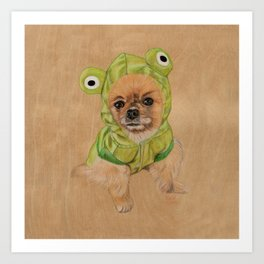 Littlle Greenie Art Print