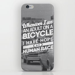Hope For The Human Race iPhone Skin