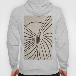 Study of a Man Walking Into the Sun Hoody