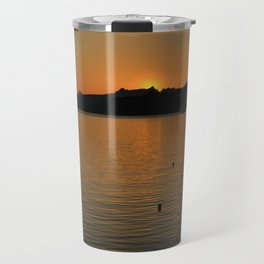 sunset in bodrum Travel Mug