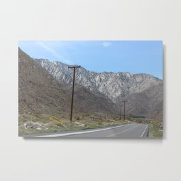 Mountainous Road Metal Print