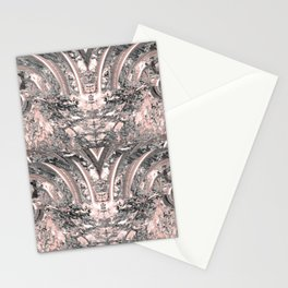 grey rose elegance pattern Stationery Cards