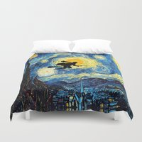 quidditch Duvet Covers featuring Young wizzard abstract art painting iPhone 4 4s 5 5c, ipod, ipad, pillow case, tshirt and mugs by Three Second
