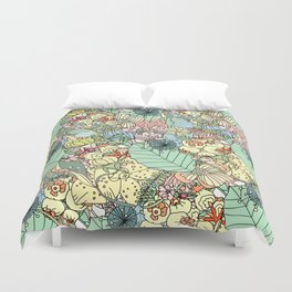 Nature Bloom Pattern Duvet Cover